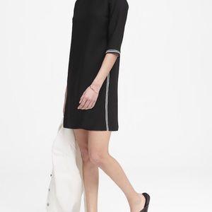 New Banana Republic black short 3/4 sleeve dress